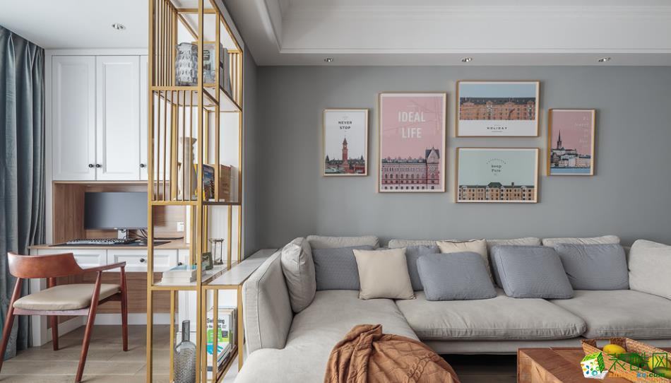 昆明100平3室2廳北歐風格裝修案例圖-豐立裝飾