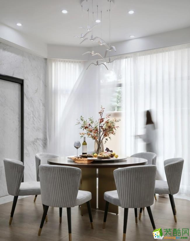 餐厅  昆明400平别墅装修案例图-紫苹果装饰