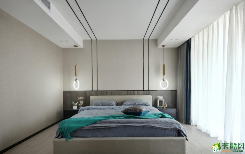 卧室  昆明400平别墅装修案例图-紫苹果装饰