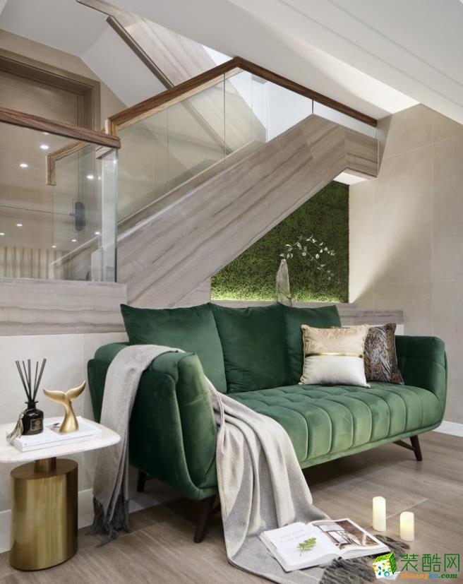 客厅  昆明400平别墅装修案例图-紫苹果装饰