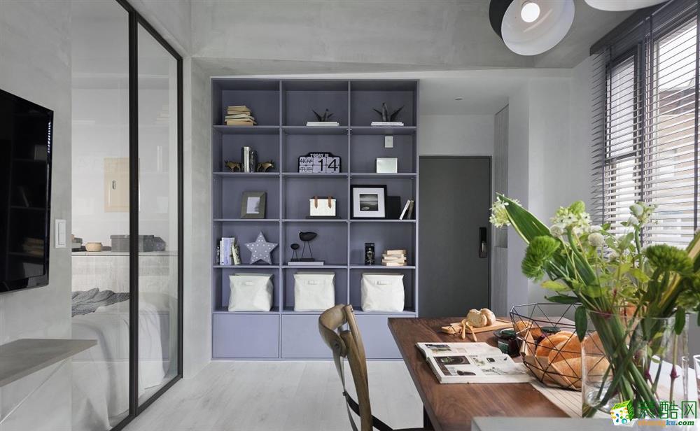 锦绣家园66平米一室一厅一卫现代风格装修效果图