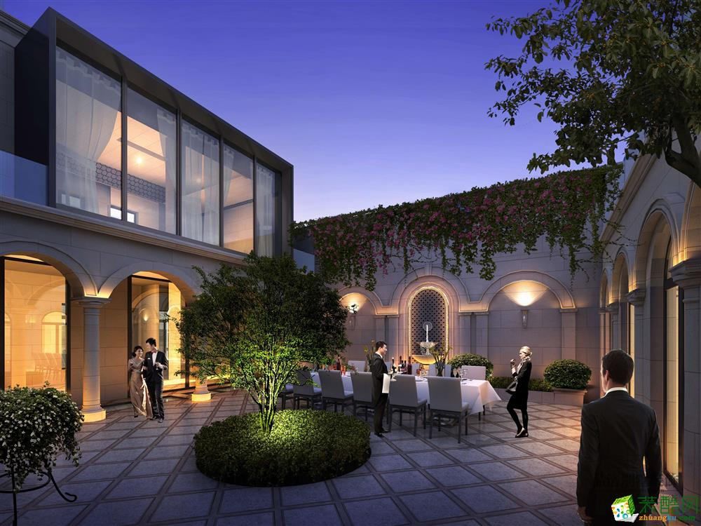 >>【品清别墅装饰】无锡风格园800平方美式香樟的长方形别墅图片