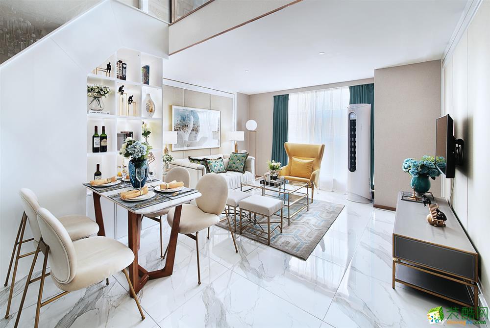 32.6�OLOFT公寓样板房现代风格装修设计效果图