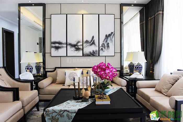 安宇花园中式三居室装修案例