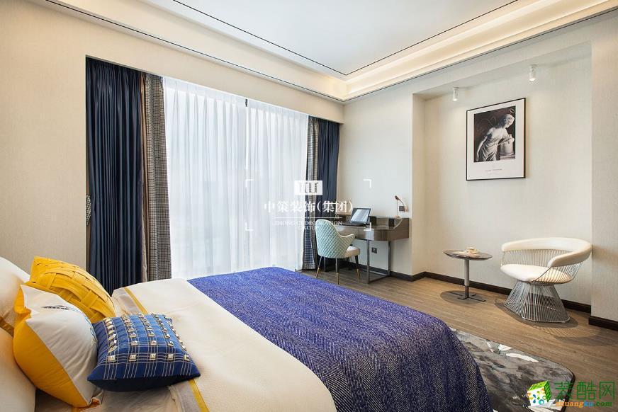 卧室  昆明青瓷大宅290平别墅装修案例图-中策装饰