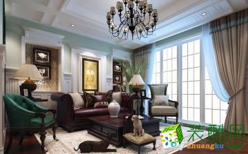长春玫瑰谷别墅区600平美式风格-紫苹果装饰