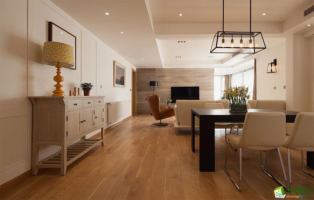 大连两室两厅装修-76平米现代简约风格装修效果图-悦佳汇装饰