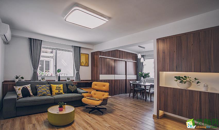 >> 金水湾86平两室两厅两卫现代北欧风格装修效果图