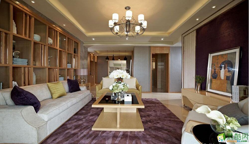 青岛三室两厅装修-108平米现代简约风格装修效果图-四季金辉