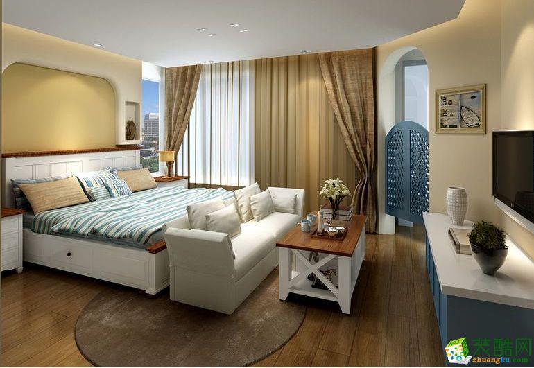 正商城100平三室一厅一卫地中海风格装修效果图