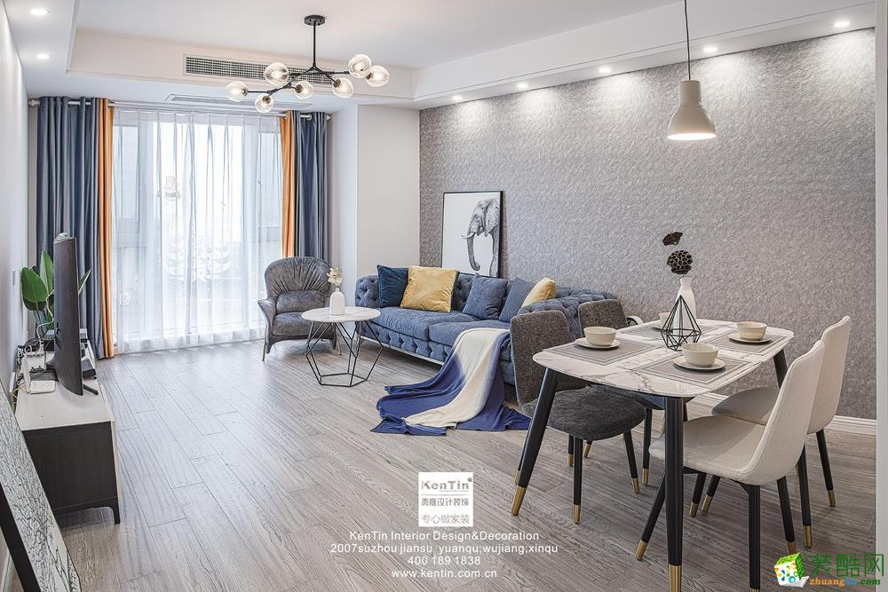 弘阳上湖103�O现代风格三室一厅一卫现代风格装修设计效果图