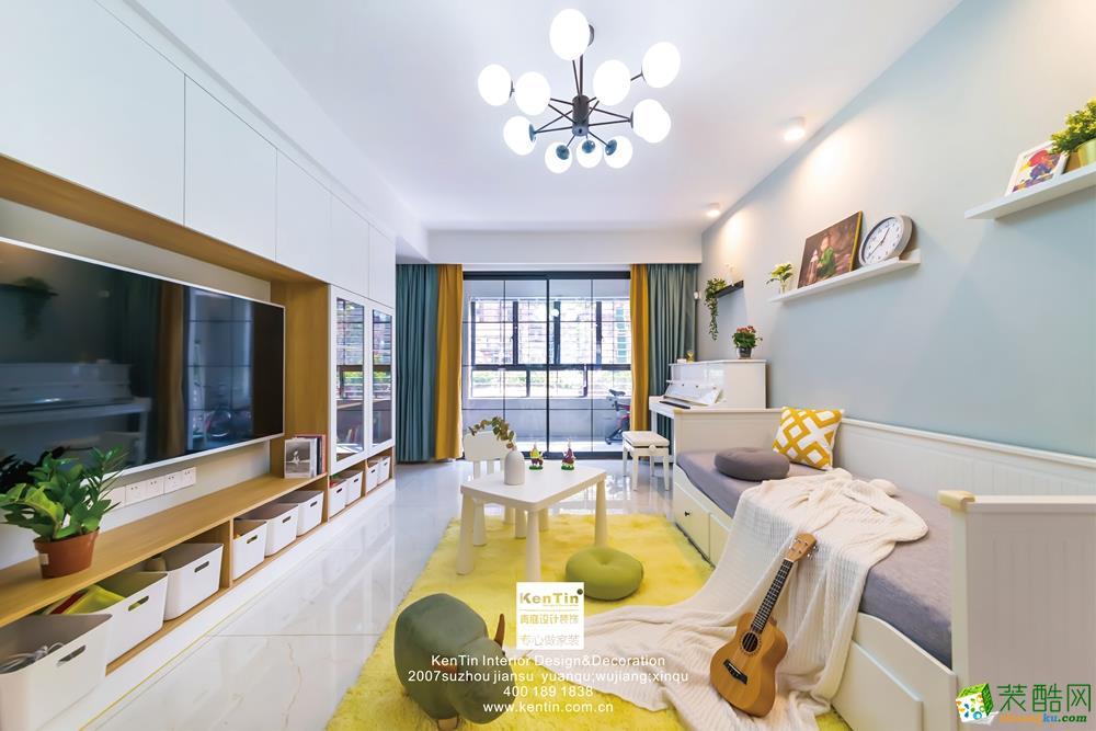 首页 装修案例 >> 恒基旭辉城115㎡三室一厅一卫清新北欧风格设计作品图片