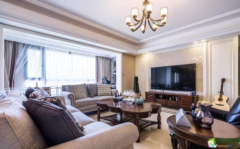 曲靖140平三室两厅美式风格装修实景图-乾美装饰_美式风格-三室两厅两卫
