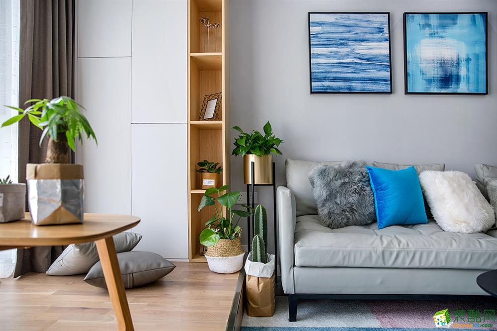 【三实装饰】79平两室一厅一卫现代风格装修效果图