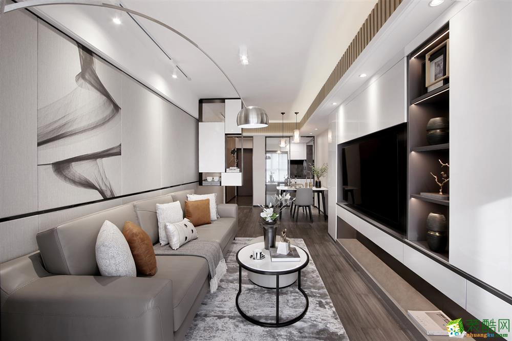 天成雅苑140平米三室两厅两卫现代风格装修效果图