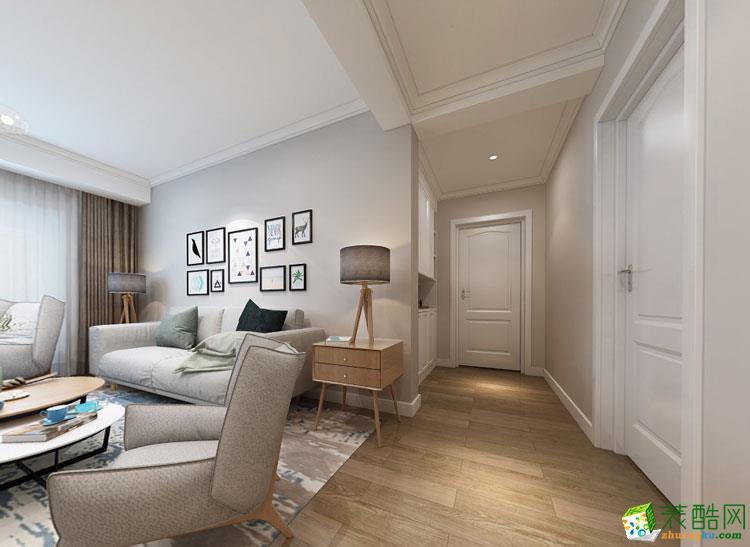 荣国花园100平三室一厅一卫北欧风格装修效果图