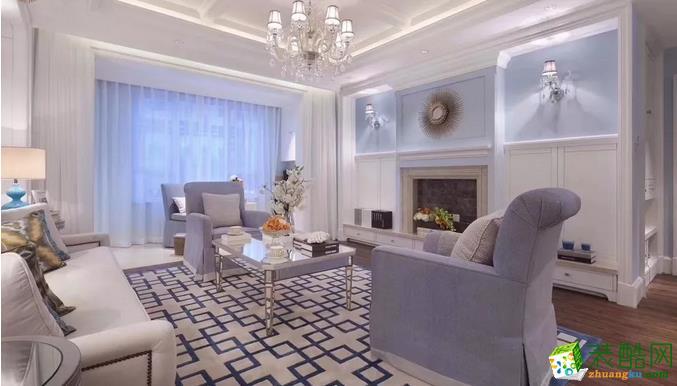 天津105�O欧式田园风格装修只花13万――百变空间装饰