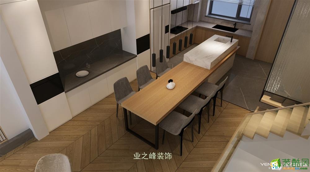 中航樾园300�O现代风格别墅装修设计效果图