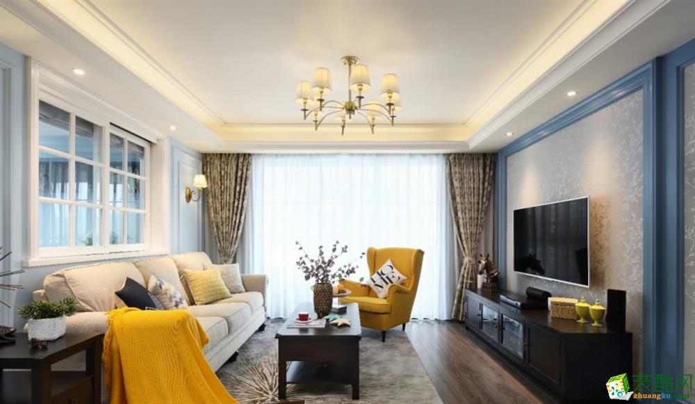 昆明130平3室2厅装修案例图-天地亿家装饰