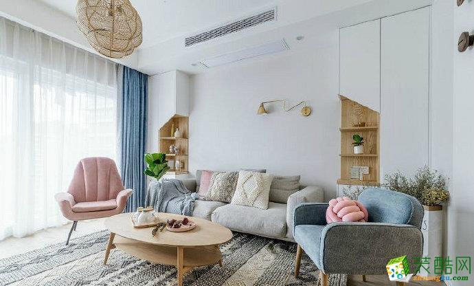 重慶兩室一廳裝修-簡約北歐風格90平米裝修效果圖-佳天下裝飾