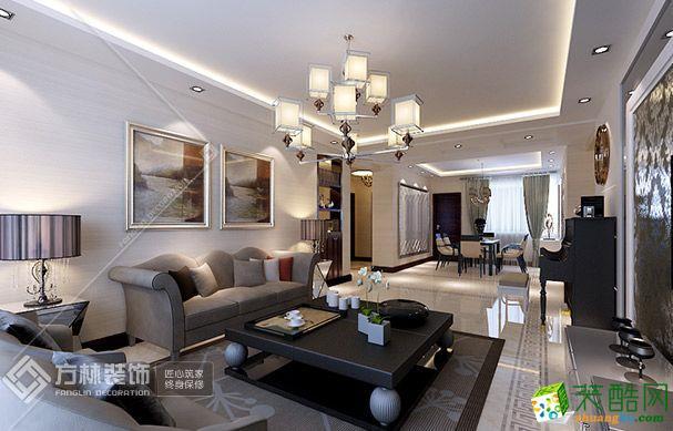 楚天都市沁園120㎡現代簡約三室兩廳裝修效果圖