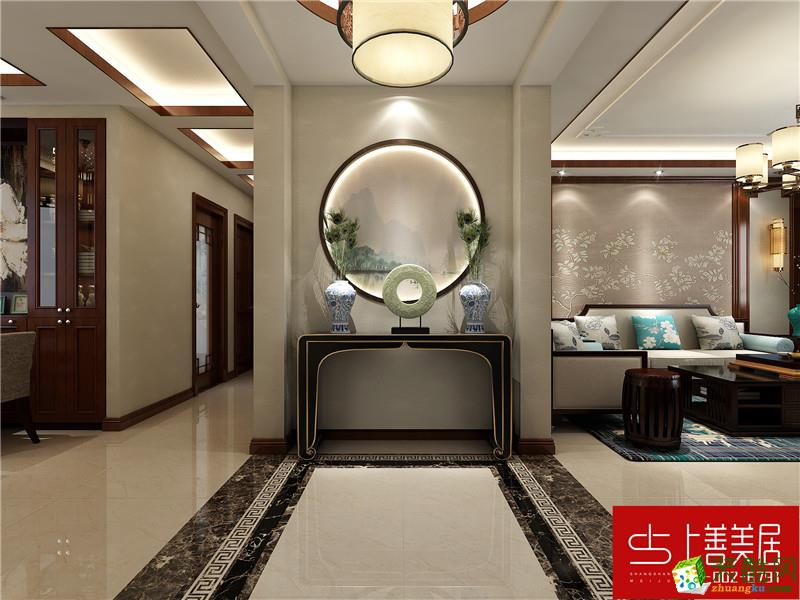 福美小区140平三室两厅两卫新中式装修效果图