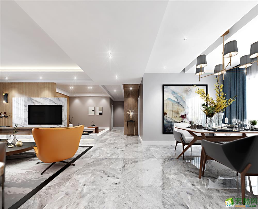 贵阳现代风格140平四居室装修案例效果图