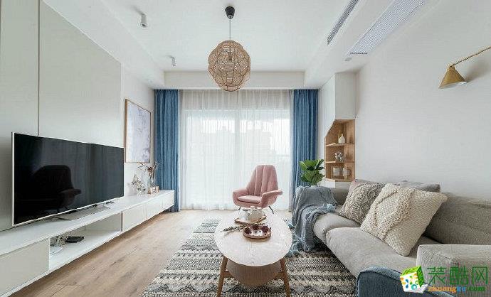 重慶兩室兩廳裝修-85平米北歐風格裝修效果圖-佳天下裝飾