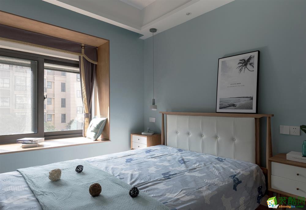 79平兩室一廳一衛現代簡約風格裝修效果圖