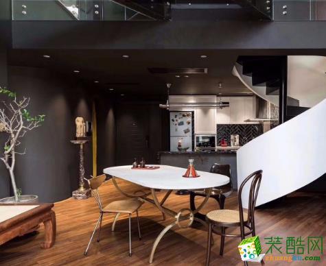 乐山龙发装饰:140平LOFT现代风格装修案例