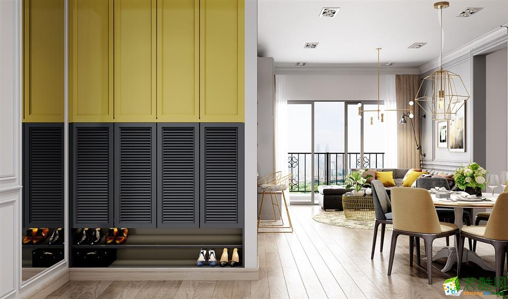 格创装饰80平两室一厅一卫北欧风格装修效果图