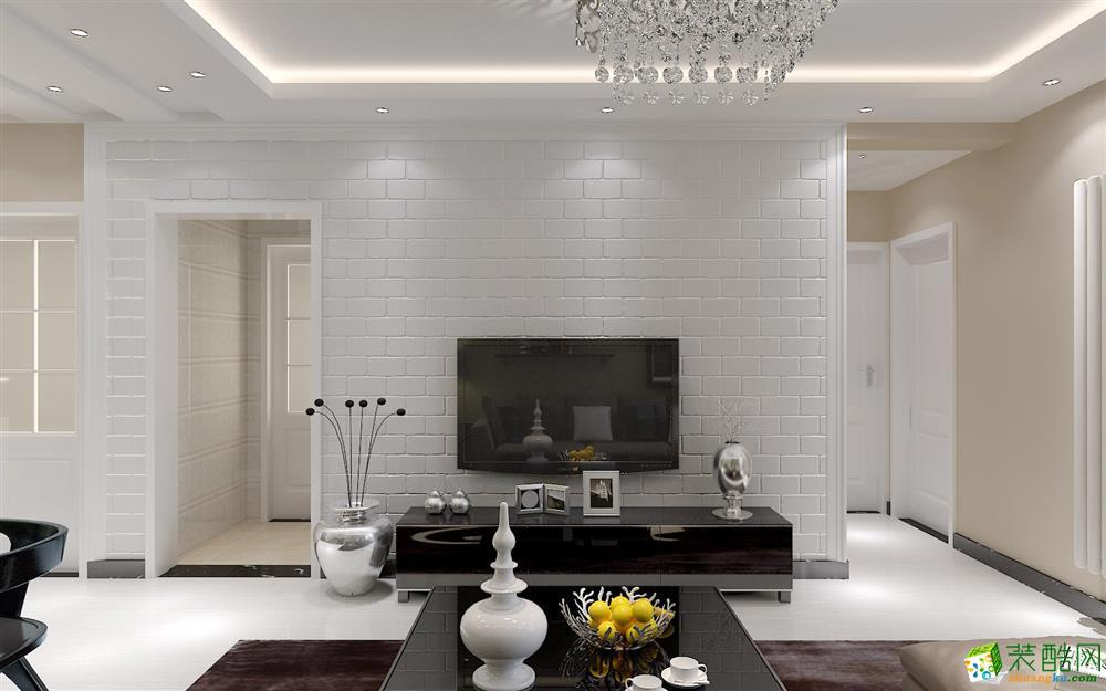 橙色装饰60平一室一厅一卫现代风格装修效果图