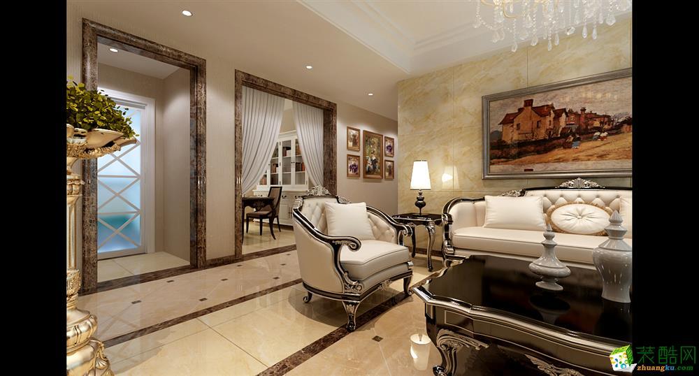 长九中心131三室两厅一卫欧式风格装饰效果图