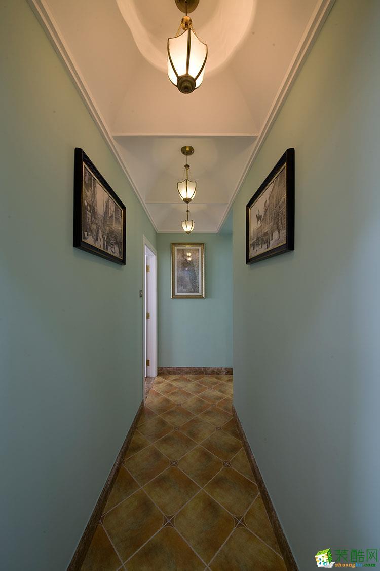 振宁星光广场85平地中海风格两室一厅一卫装修效果图