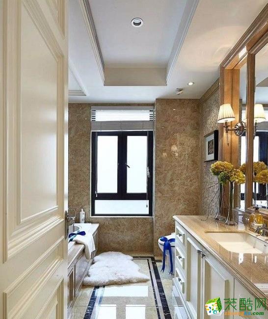 乐山100平美式两居室装修案例