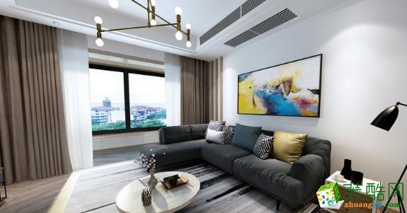 常州大名城100平三居室欧式风格装修案例