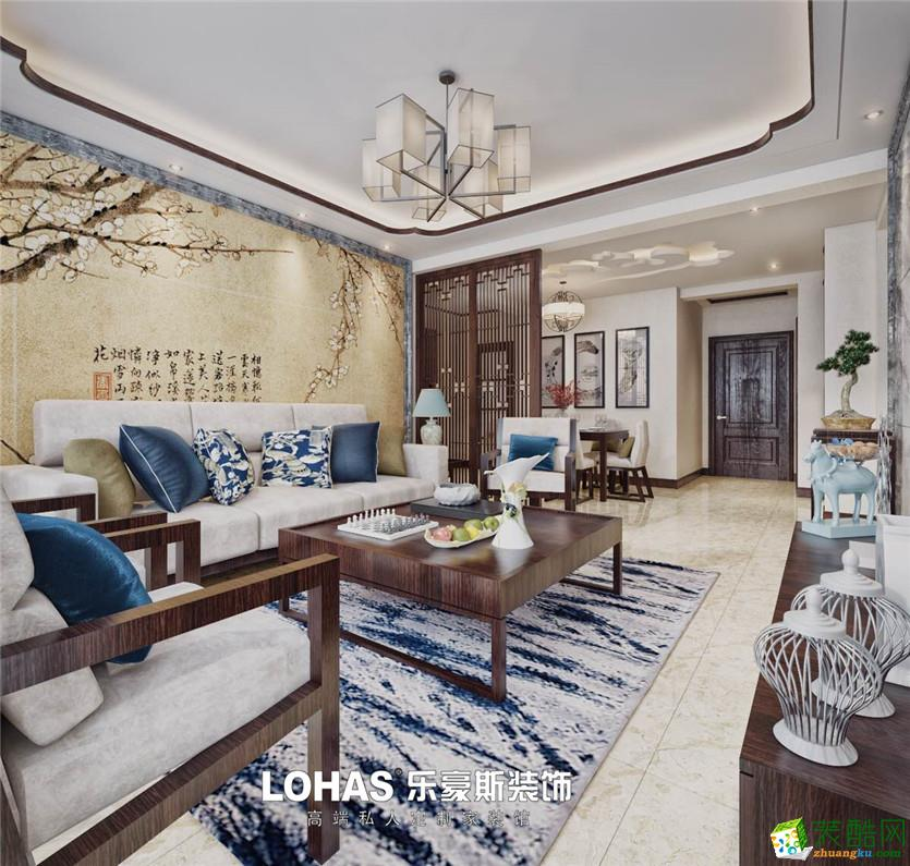 名相华府150平三室两厅两卫新中式风格装修效果图