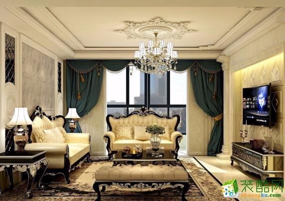 常州150平四居室欧式风格装修案例