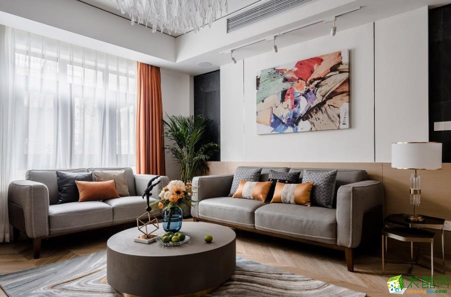 客廳  曲靖200平別墅歐式風格裝修案例圖