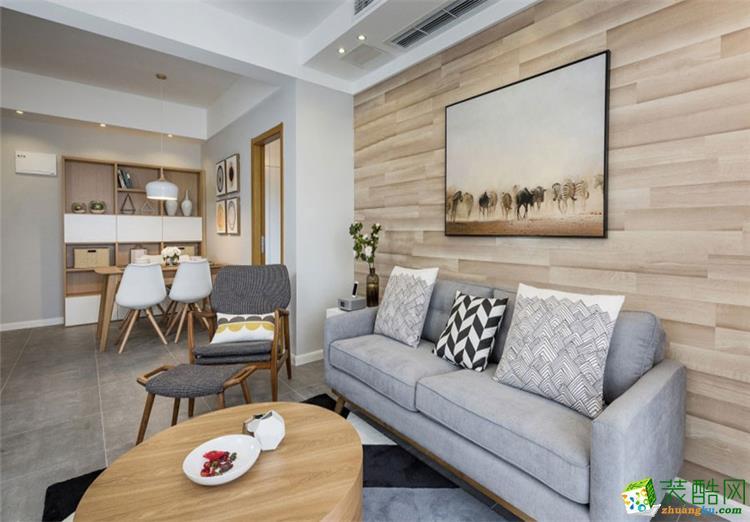 三居室现代风格装饰效果图