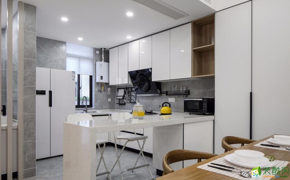 廚房  昆明185平別墅裝修案例圖-大美裝飾