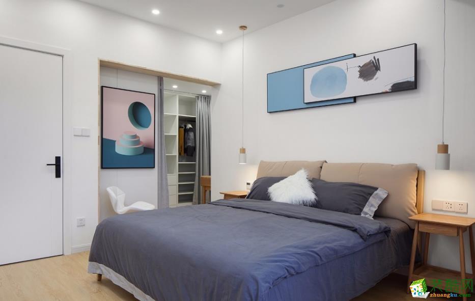 臥室  昆明185平別墅裝修案例圖-大美裝飾