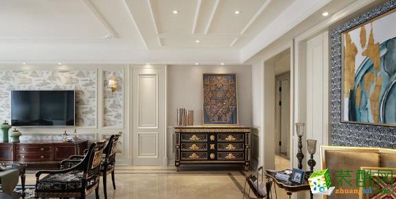 130平三居室欧式风格装修案例