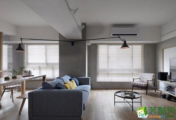 红蚂蚁装饰80平两居室日式风格装修案例