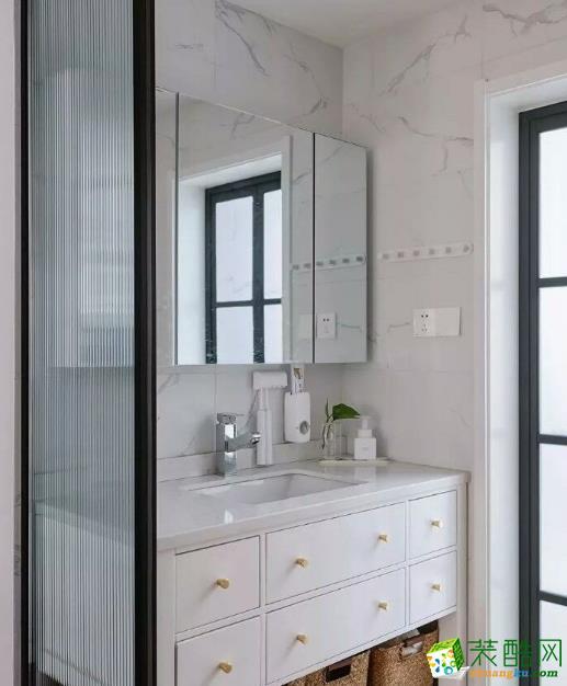 常州70平两居室北欧风格装修案例