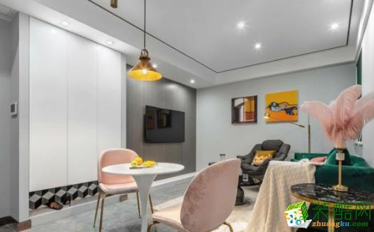 常州70平两居室混搭风格装修案例