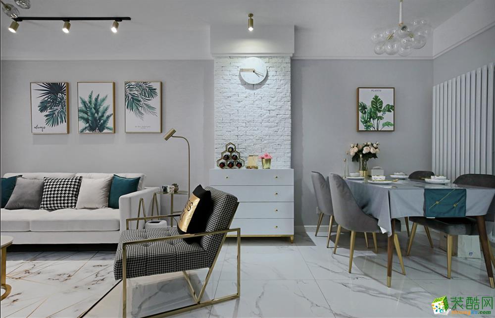 和顺惠园98方三室一厅一卫北欧风格装修设计效果图_北欧风格-三室一厅一卫