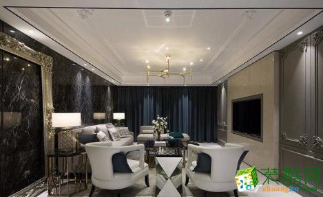 常州100平简约风格三居室装修案例