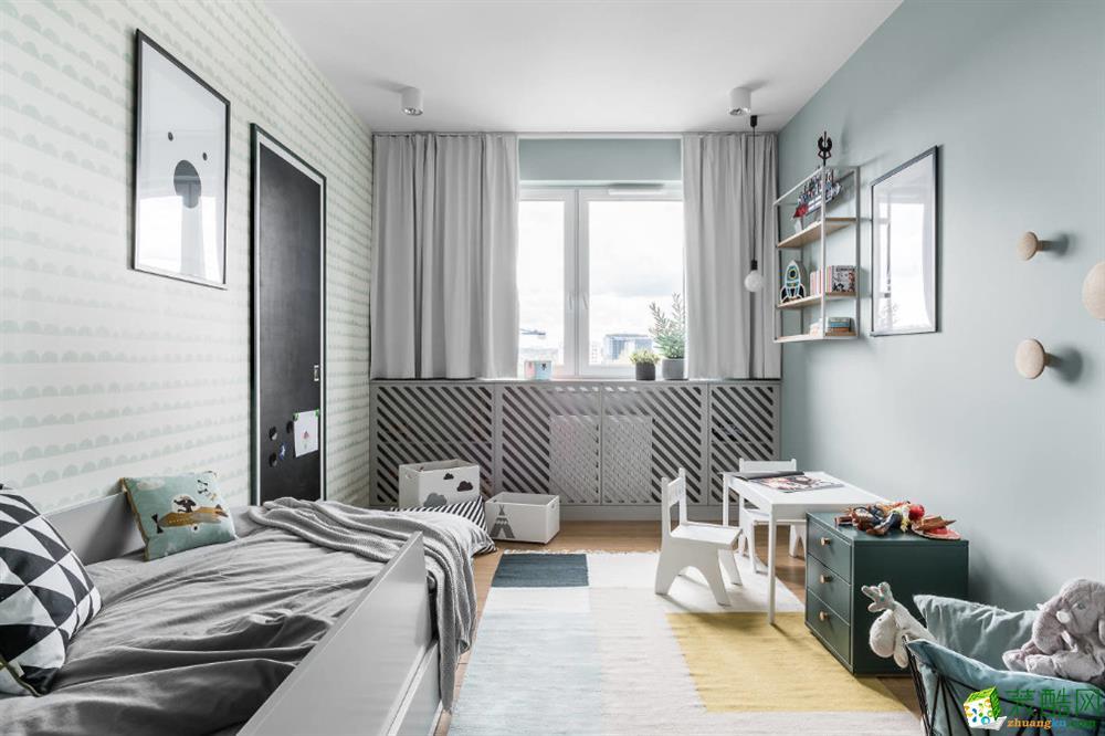 【中之旗装饰】75平两室一厅一卫现代风格装修效果图