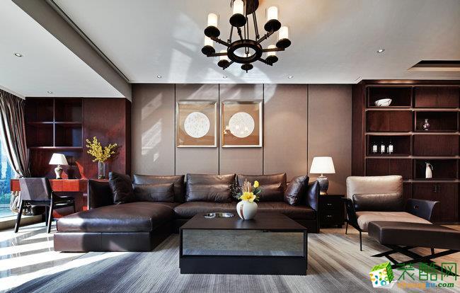 大显设计—80㎡两室一厅一卫新中式风格设计效果图
